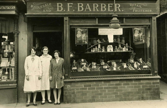 Bottom Shop 1920s - Miss Kirby, Mrs.Barber, Edna Angood | D Barber