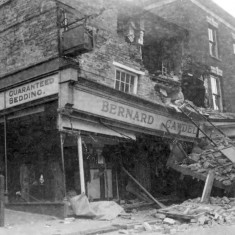 Lorry collided with the front of the building, 17th September 1936