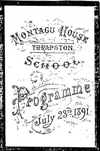 Montagu House School 1891