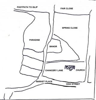 Map of the land names along Chancery Lane (Fair Lane)