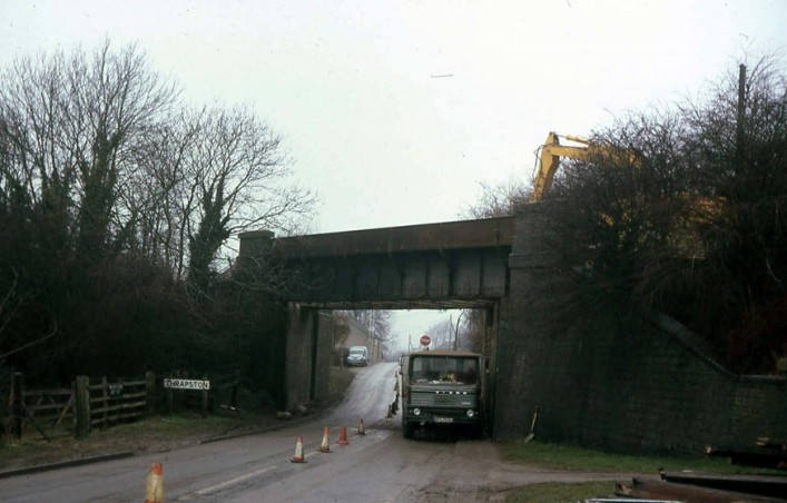 Midland Road Railway Bridge demolition c1974