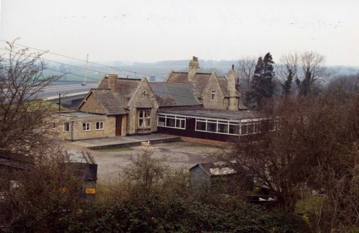 Rear of Midland Road Station taken from Stone Crusher 1993