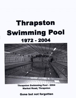Thrapston Swimming Pool leaflet (cover)