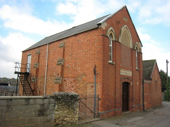 Thrapston Methodist Church in Hortons Lane, prior to 1885