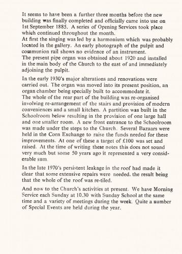 Thrapston Methodist Church - Details  1885 - 1985