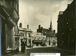 Market Place, Thrapston 1920s | G Mason