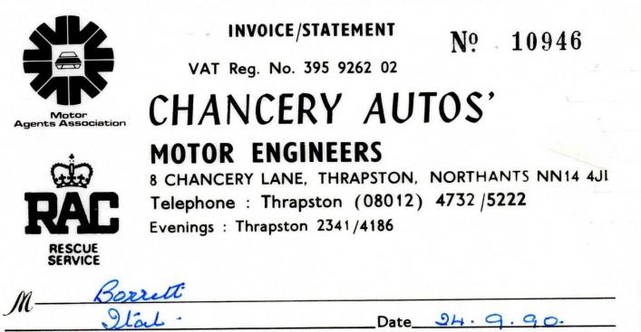 Chancery Autos, 1990 | G Borrett