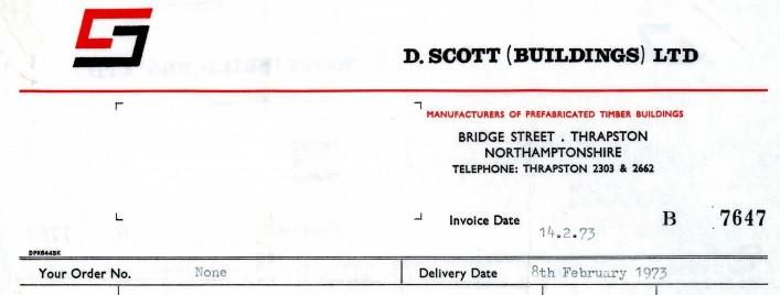 D Scott (Buildings) Ltd, Bridge Street, 1973 | G Borrett