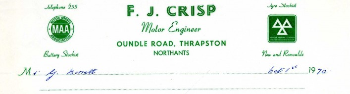 F J Crisp, Oundle Road, 1970