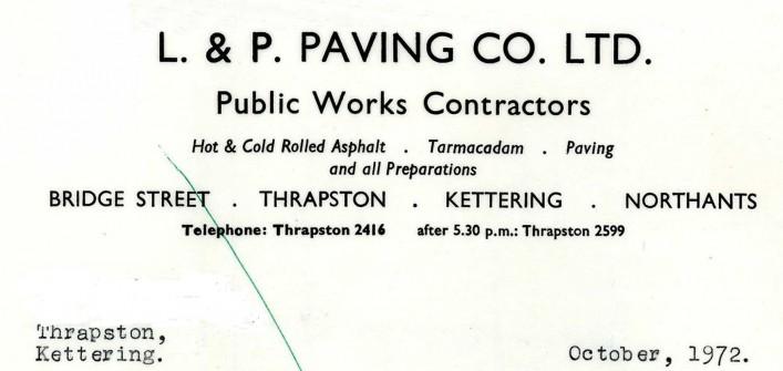 L & P Paving Co Ltd, Bridge Street, 1972 | G Borrett