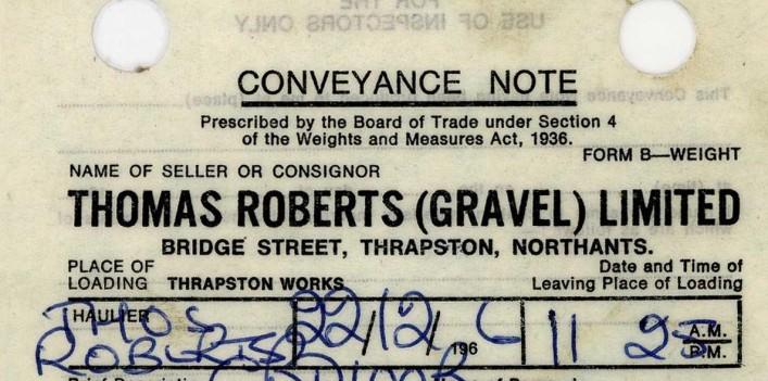 Thomas Roberts (Gravel), Bridge Street, 1966 | G Borrett