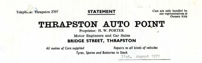 Thrapston Auto Point, Bridge Street, 1970  | G Borrett