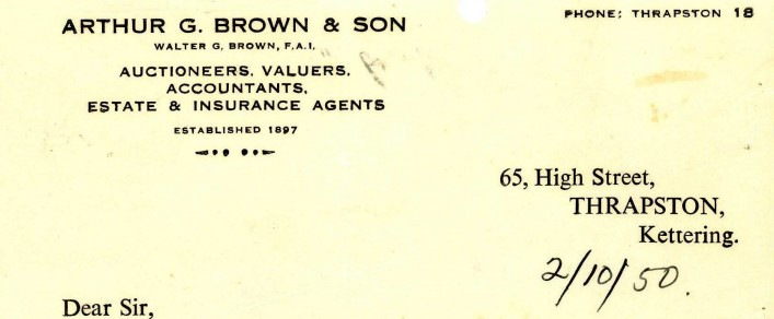 Arthur G Brown and son | G Borrett