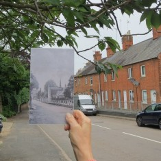 Early 20th Century against a modern Huntingdon Road
