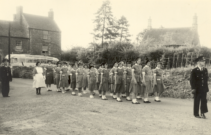 St Johns Ambulance Parade c1960 with Manor House in background