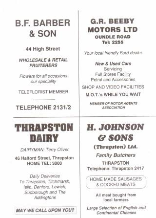 1990 Business Advertisements (Thrapston)
