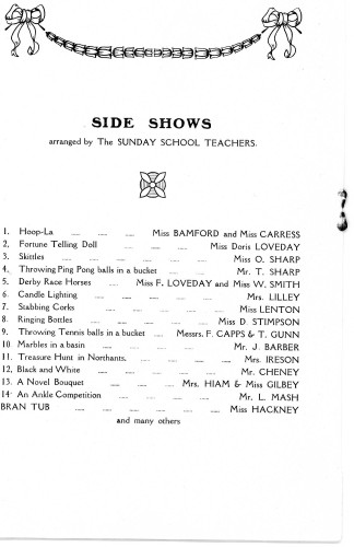 A Housewife's Fair - 31st January, 1929 Side Shows