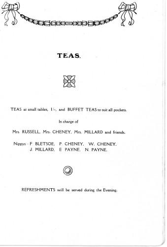 A Housewife's Fair - 31st January, 1929 Teas
