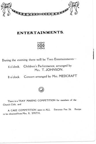 A Housewife's Fair - 31st January, 1929 Entertainments
