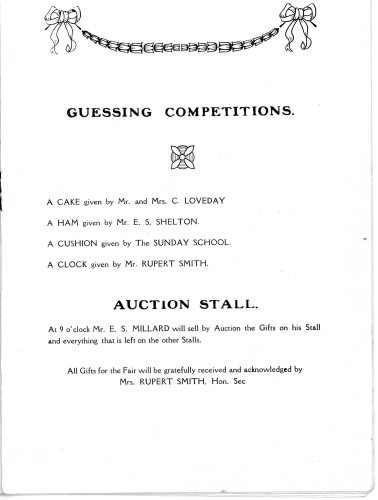 A Housewife's Fair - 31st January, 1929 Competition & Auction