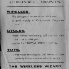 1938 Business Advertisements (Thrapston)     W Jacques