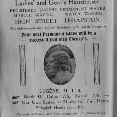 1938 Business Advertisements (Thrapston)   W Cheney