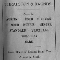 1938 Business Advertisements (Thrapston)   S J Heighton & Co