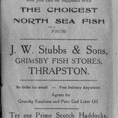 1938 Business Advertisements (Thrapston)    Grimsby Fish