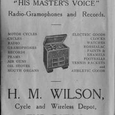 1938 Business Advertisements (Thrapston)    H M Wilson