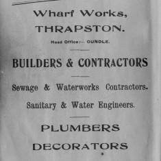 1938 Business Advertisements (Thrapston)    W M Freeman