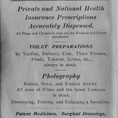 1938 Business Advertisements (Thrapston)  Cawdell Chemist