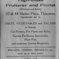 1938 Business Advertisements (Thrapston)  B F Barber