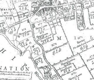 Enclosure map Thrapston 1782 enlarged lower