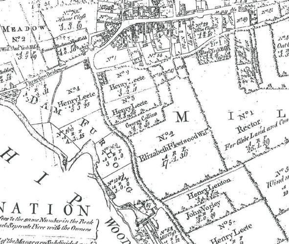 Enclosure map Thrapston 1782 enlarged lower