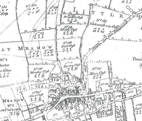 Enclosure map Thrapston 1782 enlarged upper