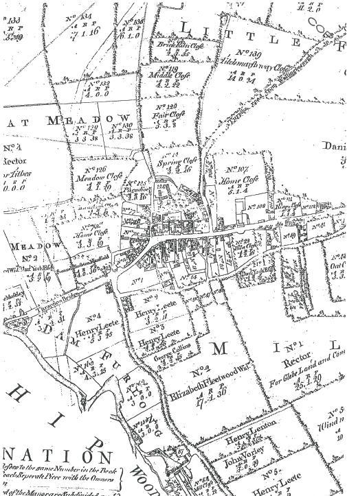 Enclosure map Thrapston 1782