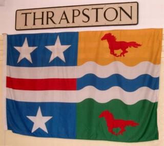 Thrapston Town Flag - incorporating the Stars & Stripes associated with the Washington family