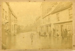 Thrapston Floods, 1875 ( Along from The Swan)
