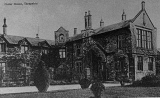 Thrapston Union Workhouse c1900, known as Cedar House