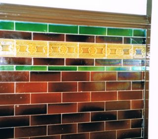 Tiling in the Master and Guardian's Toilet
