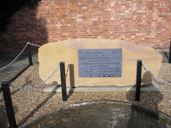The new memorial 'unwrapped' prior to dedication | Ian Byrnes