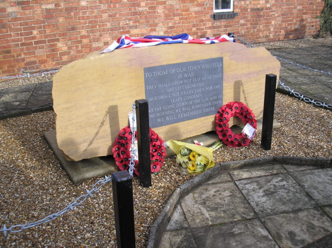 Dedication over, a new visible symbol of remembrance in our town 9th November 2014   Ian Byrnes